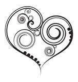 Corazón negro del diseño Imagen de archivo libre de regalías