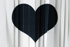 Corazón negro del papper Foto de archivo