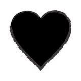 Corazón negro dibujado mano Fotos de archivo