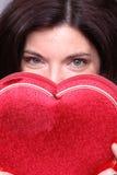 Corazón ocultado foto de archivo