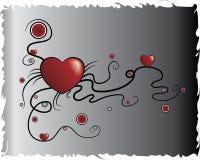 Corazón original en estilo del grunge stock de ilustración