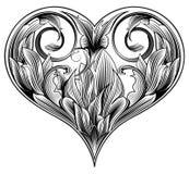 Corazón ornamental ilustración del vector