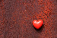 Corazón oxidado Foto de archivo libre de regalías