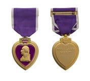 Corazón púrpura de los E.E.U.U. Fotografía de archivo libre de regalías