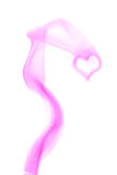 Corazón púrpura hecho de humo imagen de archivo libre de regalías
