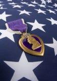 Corazón púrpura (series del Memorial Day) Fotografía de archivo libre de regalías