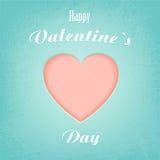 Corazón para el día de tarjeta del día de San Valentín Imágenes de archivo libres de regalías