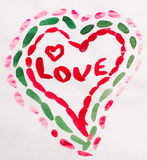 Corazón para el día de tarjeta del día de San Valentín fotografía de archivo