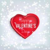 Corazón para el día de tarjeta del día de San Valentín (14 de febrero) Imagenes de archivo