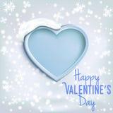 Corazón para el día de tarjeta del día de San Valentín (14 de febrero) Fotografía de archivo libre de regalías