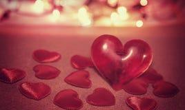 Corazón para el día de tarjetas del día de San Valentín Fotos de archivo