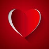 Corazón para el día de tarjetas del día de San Valentín Foto de archivo libre de regalías