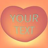 Corazón para el día del ` s de la tarjeta del día de San Valentín Imagen de archivo libre de regalías