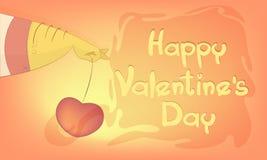 Corazón para el día del ` s de la tarjeta del día de San Valentín Fotografía de archivo libre de regalías