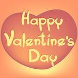Corazón para el día del ` s de la tarjeta del día de San Valentín Foto de archivo