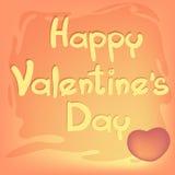 Corazón para el día del ` s de la tarjeta del día de San Valentín Fotos de archivo