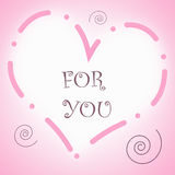 Corazón para usted Foto de archivo