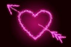 Corazón perforado Ilustración del Vector