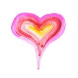 Corazón pintado Imagenes de archivo