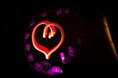 Corazón pintado luz Fotos de archivo libres de regalías