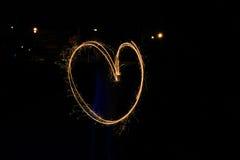 Corazón, pintura ligera Fotografía de archivo