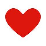 Corazón plano del icono Fotografía de archivo