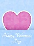 Corazón poligonal abstracto Corazón rojo de la papiroflexia en corte rosado del fondo Ilustración del vector Fondo romántico para libre illustration