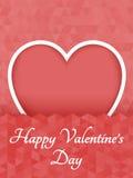 Corazón poligonal abstracto Corazón rojo de la papiroflexia en el corte blanco del fondo Ilustración del vector Fondo romántico p libre illustration