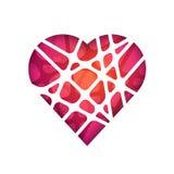 Corazón poligonal abstracto Plantilla moderna abstracta del diseño geométrico Foto de archivo libre de regalías