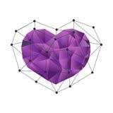 Corazón poligonal polivinílico bajo Imágenes de archivo libres de regalías