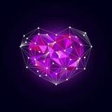 Corazón poligonal Vector polivinílico bajo Fotografía de archivo