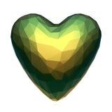 Corazón polivinílico bajo con el material iridiscente aislado Imagenes de archivo