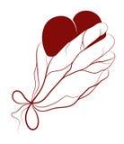 Corazón presente en una mano ilustración del vector