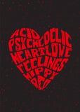 Corazón psicodélico Fotos de archivo