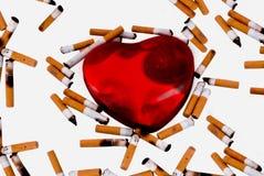 Corazón que fuma Foto de archivo