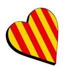 Corazón que se divierte amarillo y rojo ilustración del vector