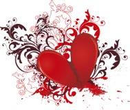 Corazón quebrado Imágenes de archivo libres de regalías