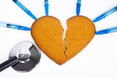 Corazón quebrado Imagen de archivo libre de regalías