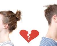 Corazón quebrado Fotos de archivo libres de regalías