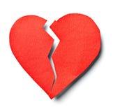 Corazón quebrado foto de archivo libre de regalías