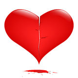 Corazón quebrado fotografía de archivo
