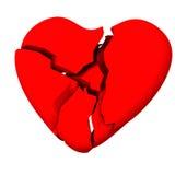 Corazón quebrado 3d Imagenes de archivo