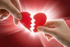 Corazón quebrado Fotografía de archivo libre de regalías