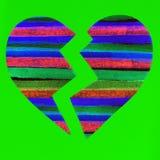 Corazón quebrado colorido Fotografía de archivo