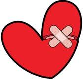 Corazón quebrado con Bandaid Imágenes de archivo libres de regalías