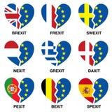 ¿Corazón quebrado de Brexit, qué siguiente? Imagen de archivo libre de regalías