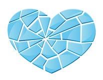 Corazón quebrado de cristal Foto de archivo libre de regalías
