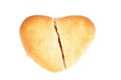 Corazón quebrado de la galleta imágenes de archivo libres de regalías