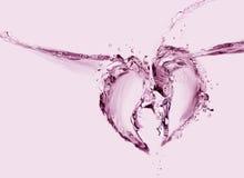 Corazón quebrado del agua Foto de archivo libre de regalías