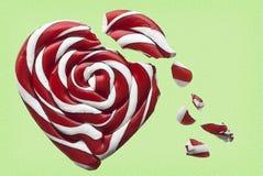 Corazón quebrado del caramelo stock de ilustración